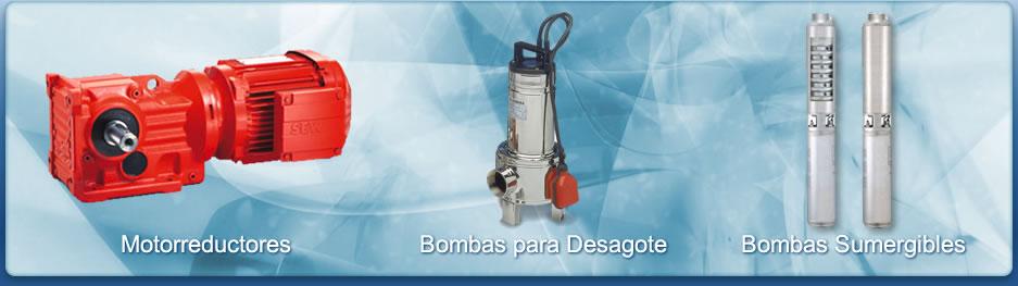 Motorreductores - Bombas para desagote - Bombas sumergibles