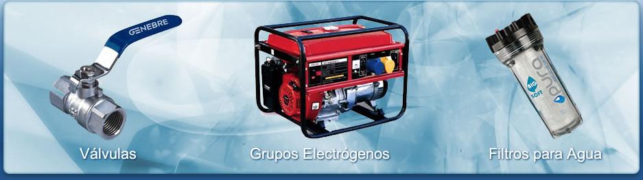 Válvulas - Grupo electrógenos - Filtros para agua